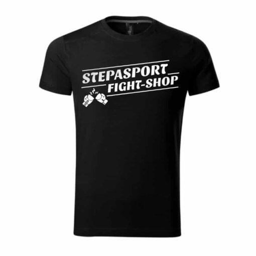 Stepasport majica Fight shop - Crna